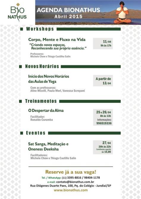Bionathus Agenda Abril 2015