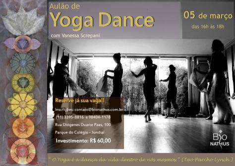 chamada yoga dance março