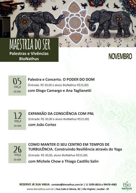 agenda Novembro